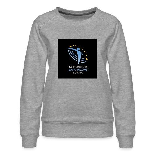 02 ubie on black centered square jpg - Vrouwen premium sweater