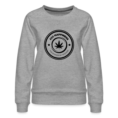 420_Happiness_logo - Dame premium sweatshirt