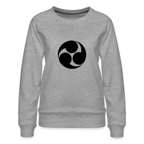 Kobayakawa Mon Japanese clan black - Women's Premium Sweatshirt