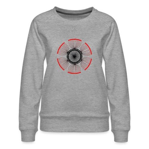 Red Poppy Seeds Mandala - Women's Premium Sweatshirt