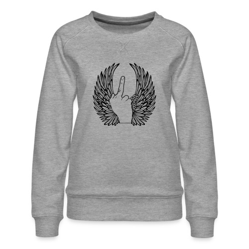 middle finger with wings - Vrouwen premium sweater