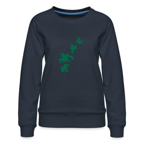 Green Leaves - Frauen Premium Pullover