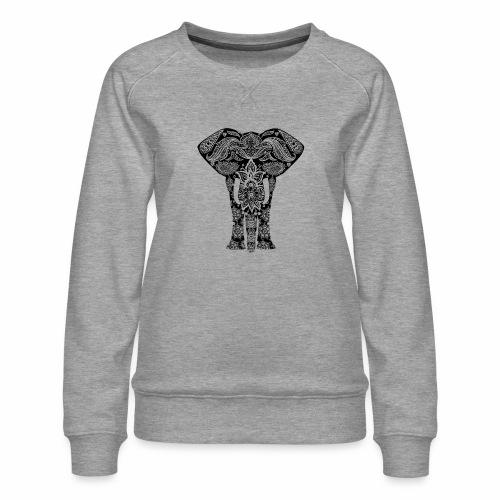 Ażurowy słoń - Bluza damska Premium