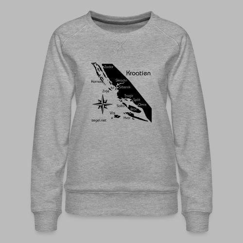 Crewshirt Urlaub Motiv Kroatien - Frauen Premium Pullover