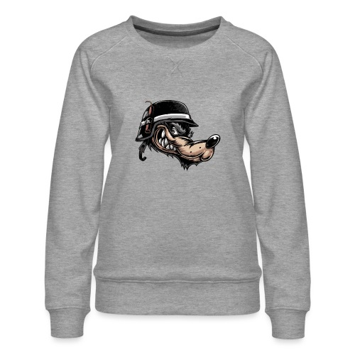 Wolf mit Helm - Frauen Premium Pullover