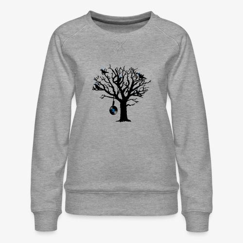Musical Birds in Tree 2 blau Hangman Vinyl - Frauen Premium Pullover