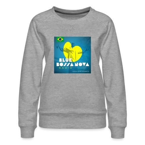 BLUE BOSSA NOVA RADIO - Women's Premium Sweatshirt