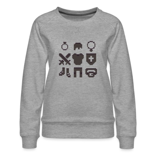 RPG Inventory Slots - Dame premium sweatshirt