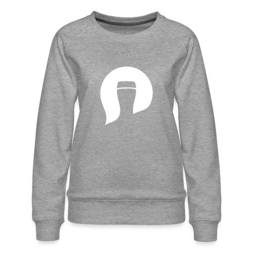 Pint Please symbol white - Women's Premium Sweatshirt