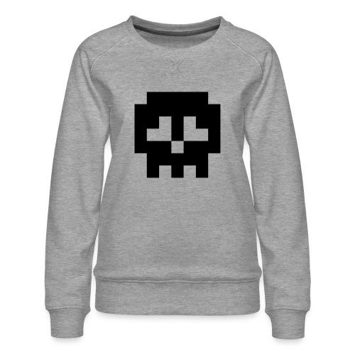 Retro Gaming Skull - Women's Premium Sweatshirt