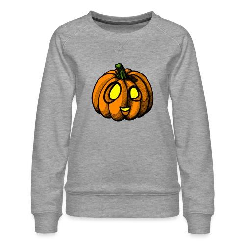 Pumpkin Halloween scribblesirii - Dame premium sweatshirt