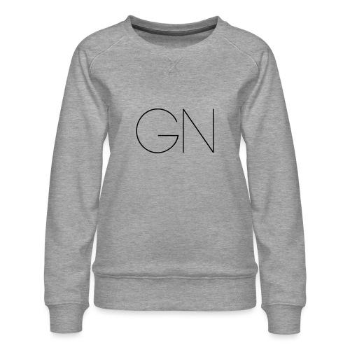 Långärmad tröja GN slim text - Premiumtröja dam