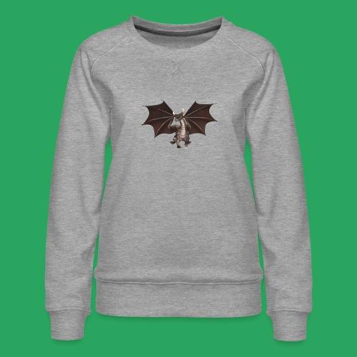 dragon logo color - Felpa premium da donna