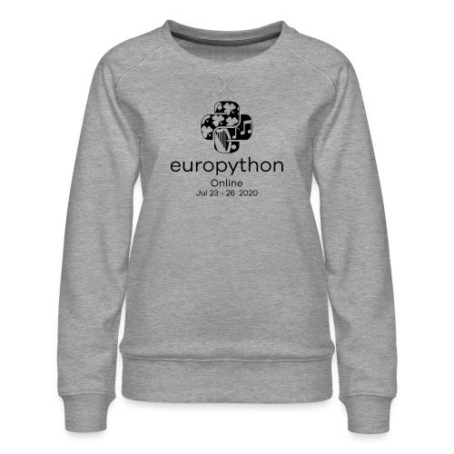 EuroPython 2020 - Vertical Black Logo - Women's Premium Sweatshirt