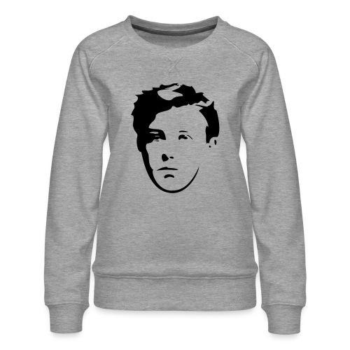 Arthur Rimbaud visage - Sweat ras-du-cou Premium Femme
