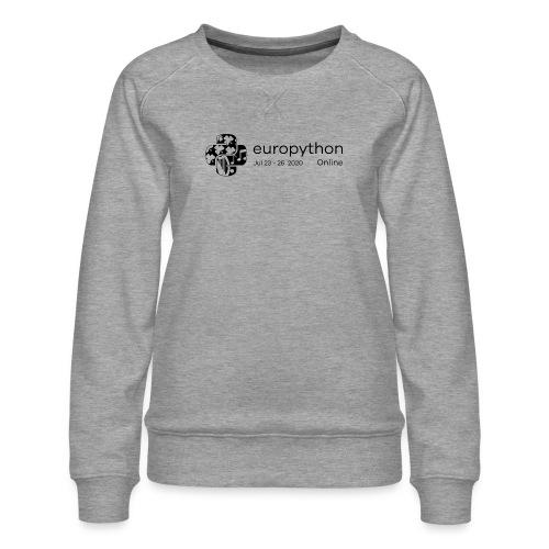 EuroPython 2020 - Black Logo - Women's Premium Sweatshirt