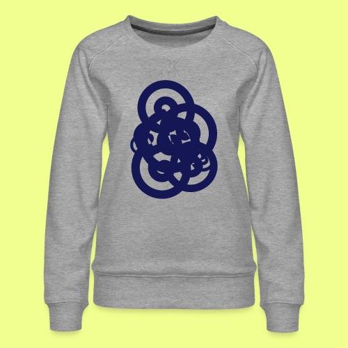 espirales azul - Sudadera premium para mujer