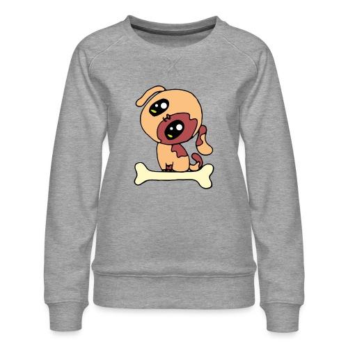 Kawaii le chien mignon - Sweat ras-du-cou Premium Femme