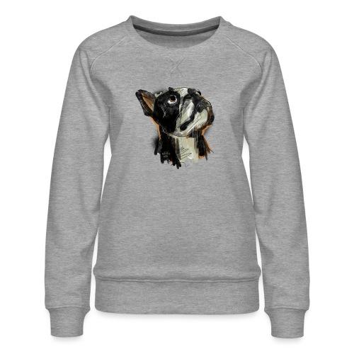 Französische Bulldogge Zeichnung - Frauen Premium Pullover
