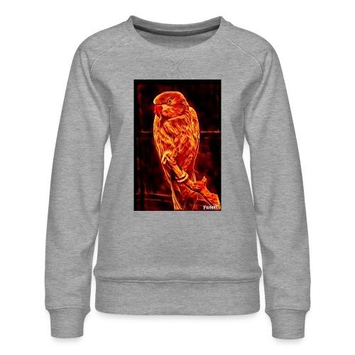 Bird in flames - Naisten premium-collegepaita