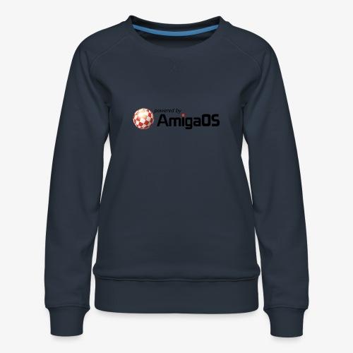 PoweredByAmigaOS Black - Women's Premium Sweatshirt