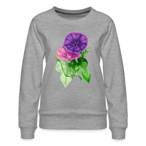 vintage mallow flower - Sudadera premium para mujer