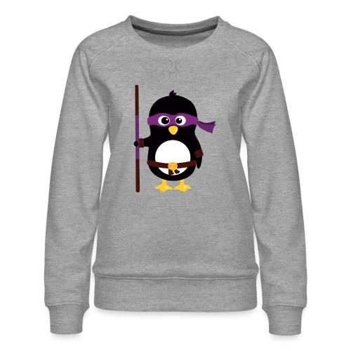 Pingouin ninja - Sweat ras-du-cou Premium Femme
