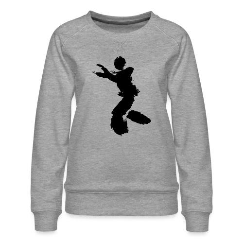 Wing Chun / Kung Fu Tusche Figur VEKTOR - Women's Premium Sweatshirt
