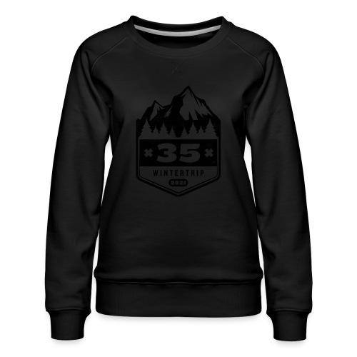 35 ✕ WINTERTRIP ✕ 2021 • BLACK - Vrouwen premium sweater