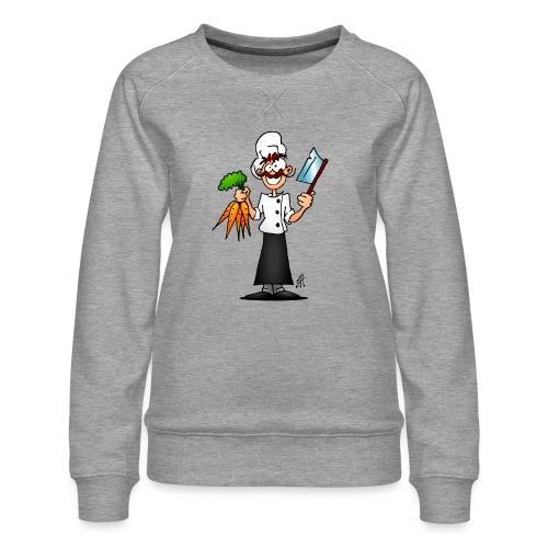 The vegetarian chef - Women's Premium Sweatshirt