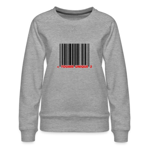 Codebar : You are unique - Sweat ras-du-cou Premium Femme