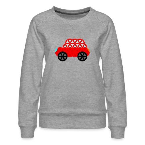 The Car Of Life - M01, Sacred Shapes, Red/R01. - Women's Premium Sweatshirt