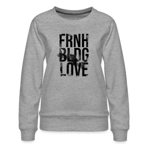 Französische Bulldogge Liebe wasserfarben - Frauen Premium Pullover