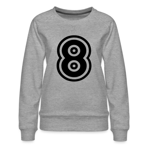 cool number 8 - Vrouwen premium sweater
