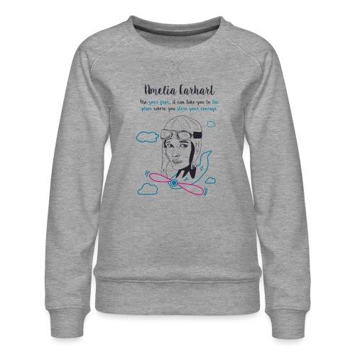 Amelia Earhart - Felpa premium da donna