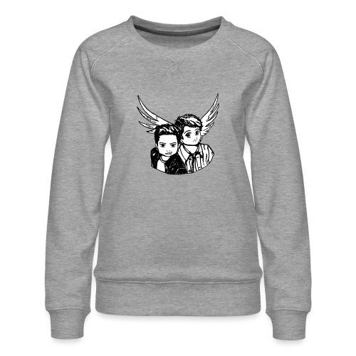 Destiel i sort/hvid - Dame premium sweatshirt