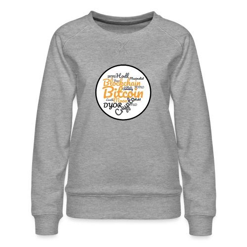 Bitcoin Tag Cloud - Women's Premium Sweatshirt