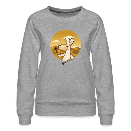Waving Llama - Dame premium sweatshirt