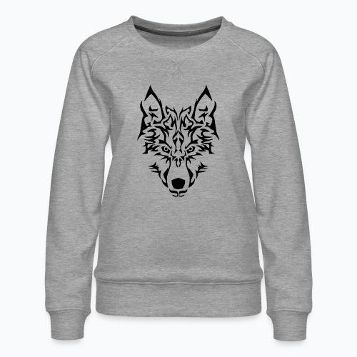 Tribal Wolf - Sweat ras-du-cou Premium Femme