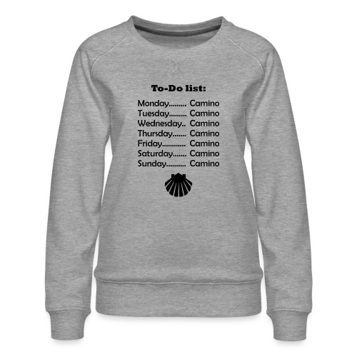 To-do list: Camino - Dame premium sweatshirt