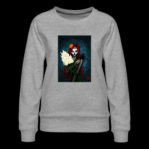 Death and lillies - Women's Premium Sweatshirt