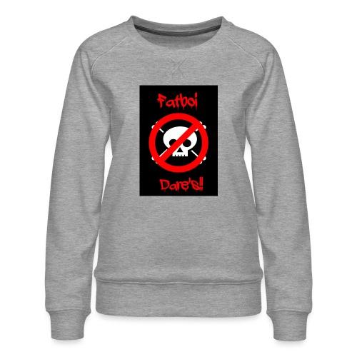 Fatboi Dares's logo - Women's Premium Sweatshirt