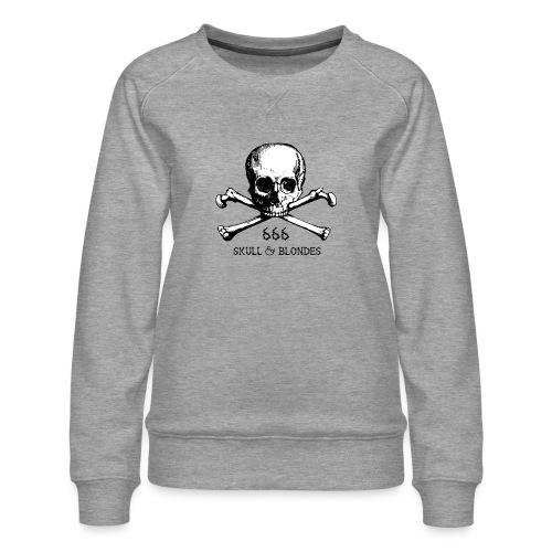 skull & blondes (black) - Frauen Premium Pullover