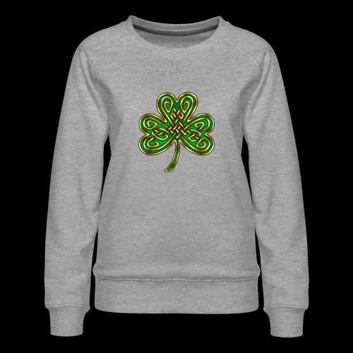 Celtic Knotwork Shamrock - Women's Premium Sweatshirt