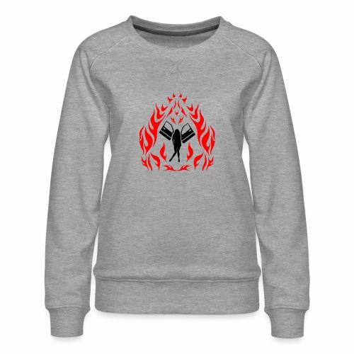 Engel / Flammen - Frauen Premium Pullover