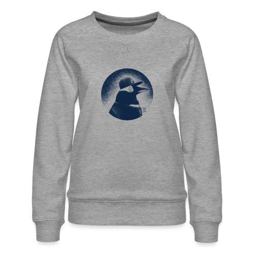 Pinguin dressed in black - Women's Premium Sweatshirt