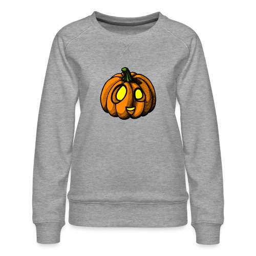 Pumpkin Halloween scribblesirii - Naisten premium-collegepaita