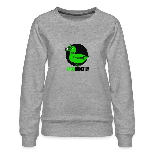 Greenduck Film Logo w. black letters - Dame premium sweatshirt
