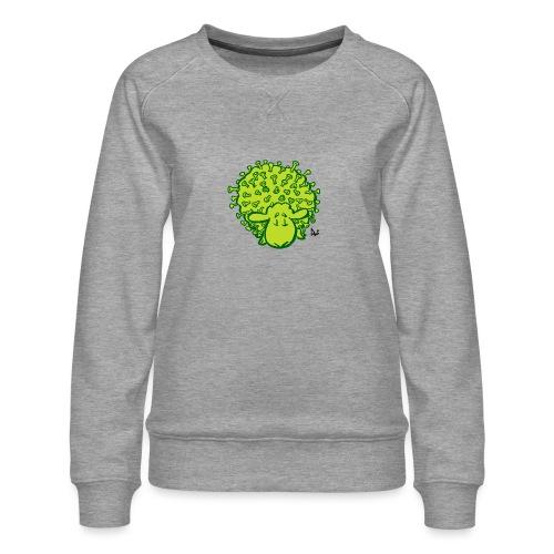 Virus får - Dame premium sweatshirt