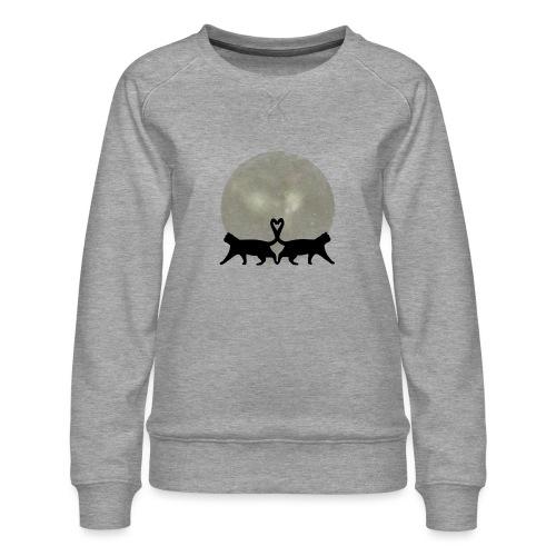 Cats in the moonlight - Vrouwen premium sweater